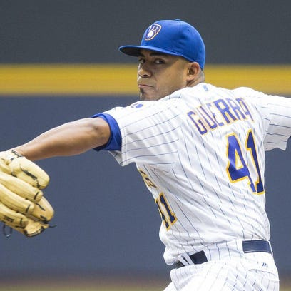Junior Guerra (7-2) limited Pittsburgh to four hits over 82/3 strong innings Guerra's scoreless streak was snapped at 20 innings. He struck out five and walked one. During one stretch, the 31-year-old rookie retired 12 straight Pirates.
