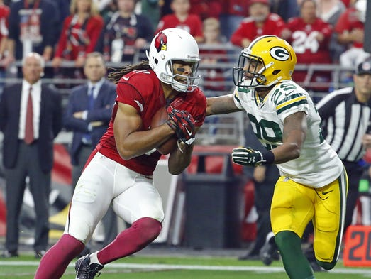 The Arizona Cardinals and Green Bay Packers played