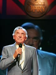 Ray Price performs at the Grand Ole Opry in 2006.