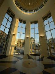 The rotunda at the newly expanded KI Convention Center