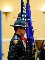 The Wisconsin State Patrol Color Guard took part Monday in the Wisconsin State Patrol awards ceremony, where State Trooper Trevor Casper was posthumously honored.