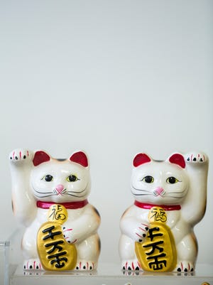 The Lucky Cat Museum is Micha Robertson's personal collection of more than 1,000 Lucky Cats that is showcased at Essex Studios in Walnut Hills.