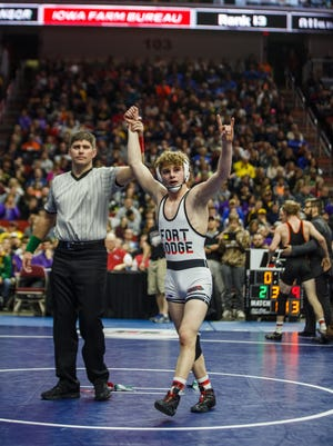 From 2016: Fort Dodge's Brody Teske wins his second 3A state championship, this one at 113 pounds.