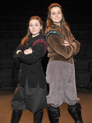 "Schyler Mayo and Kami Hinds star in the College of Sequoias production of ""Rosencrantz & Guildenstern are Dead"" on April 19, 2017. Photo by Michael Alvarez Photo taken on 4/18/17 in Visalia, Ca. 0418_CHO_Rosencrantz_1076"