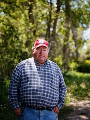 Art Tanderup poses for a portrait on his land where the proposed Keystone XL pipeline would go on Sunday, May 21, 2017, in Neligh.