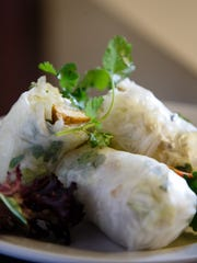 The Vegetarian spring rolls from Aroy Dee on Thursday,