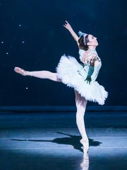 Dancer Katie Vasilopoulos as the Snow Queen in 2016