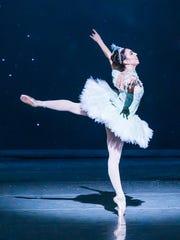 Dancer Katie Vasilopoulos as the Snow Queen in 2016 Nutcracker.