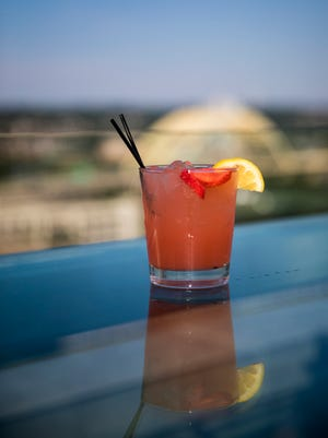 Rooftop lemonade is one of the signature drinks at Top of the Park at The Phelps atop the Marriott Residence Inn.