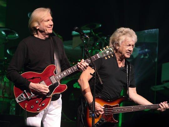 John Lodge (right) and Justin Hayward of The Moody Blues