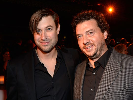 Producer Jody Hill (left) and Danny McBride arrive