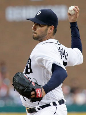 Tigers pitcher Anibal Sanchez pitches during the third inning Wednesday at Comerica Park.