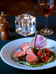 The Brown Hotel's roasted rack of lamb with eggplant caponata, chimichurri and watermelon radish.  Feb. 23, 2018