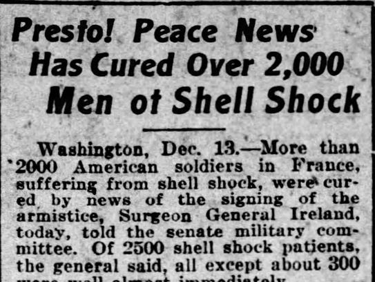A small news bit from the Dec. 14, 1918, edition of