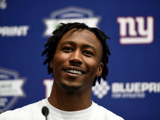 New York Giants wide receiver Brandon Marshall answers