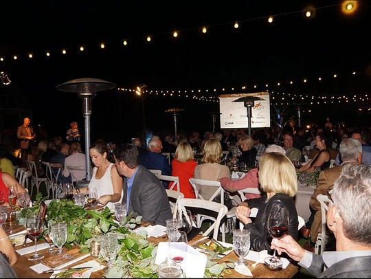Corks & Cuisine under the twinkle of lights and surrounded