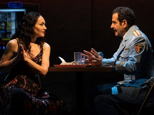 "Katrina Lenk and Tony Shalhoub in ""The Band's Visit"" on Broadway."