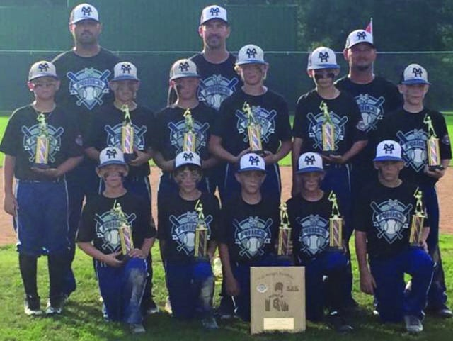 The Mountain Home Force recently won the 2015 10-year-old Cal Ripken State Tournament at Clysta Willett Park. The Force went 2-0 in pool play to earn the No. 1 seed for bracket play, and won three bracket play games to bring home the state championship. Team members are: first row, from left, Dillon Drewry, Caleb McGowan, Landon Luna, Jacob Czanstkowski, Isaac House; second row, Landon Mattox, Brady Barnett, Masen Walker, Conner Glasgow, Reece Ducker, Cody Lance; third row, coaches Aaron Ducker, Tom Czanstkowski and Curt Drewry.