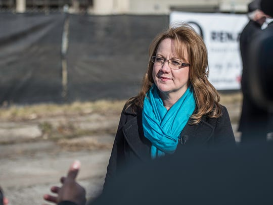 Richmond Common Council President Misty Hollis speaks