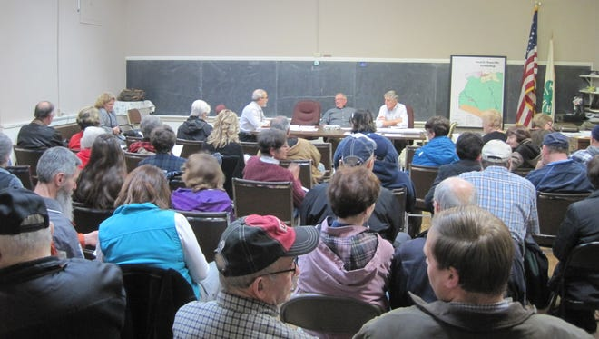 A crowd gathers before the Wednesday, Dec. 9 South Annville Township supervisors meeting.