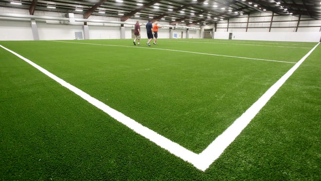 The new indoor soccer field at Carencro Sports complex July 29, 2016.