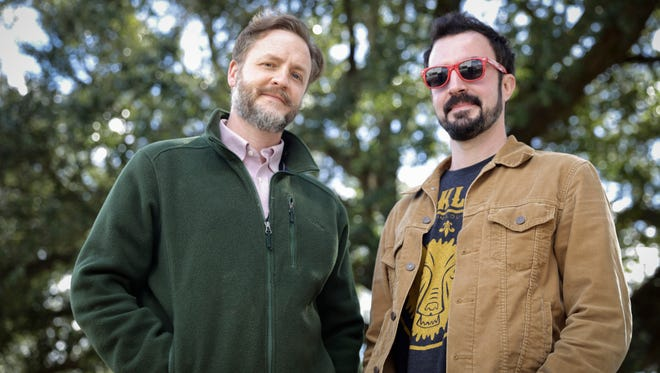 """Josh Caffrey, left, and Joel Savoy have been nominated for a Grammy for their album """"I Wanna Sing Right: Rediscovering Lomax in the Evangeline Country."""""""