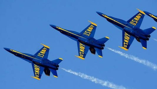 The Navy flight demonstration squadron the Blue Angels announced updates to the 2015 air show schedule and released the 2016 show schedule.