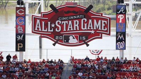 The 2015 All-Star Game will be held in Cincinnati.