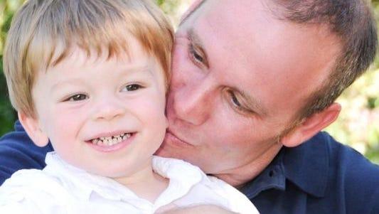 Matt Crockett with his son Mark.
