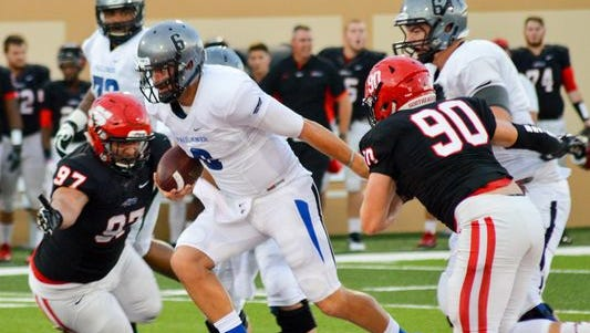 Former Texas Tech and Bowling Green quarterback Clayton Nicholas threw five touchdowns in his game for NAIA Faulkner last week.