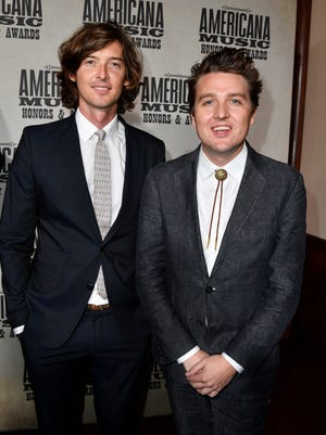 The Milk Carton Kids arrive on the red carpet for the Americana Music Honors & Awards show Sept. 13, 2017, at the Ryman Auditorium in Nashville.