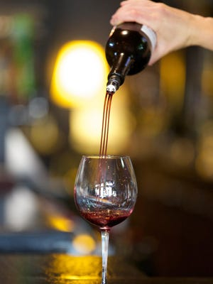 The TRIbella is a sleek aerator that pours wine from the bottle in three beautiful drip-free streams.