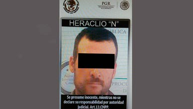 """The Mexican Attorney General's Office released this edited mugshot of Heraclio """"Laco"""" Osorio Arellanes. He's wanted in the United States in connection with the 2010 death of Border Patrol Agent Brian Terry in Arizona."""