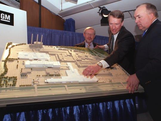 As mayor, David Hollister, left, helped bring two General