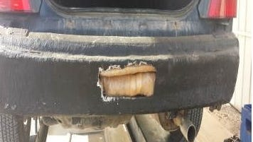 Border patrol officials found drugs inside the trunk of a Mazda Protege Saturday. It was one of three vehicles containing smuggled drugs, according to the U.S. Customs and Border Protection agency.