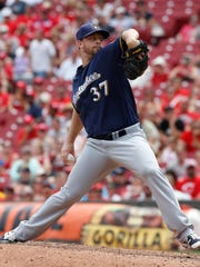 Tyler Thornburg had a 2.15 ERA in 67 relief innings for the Brewers last season.
