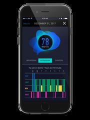 The SleepScore Max app.