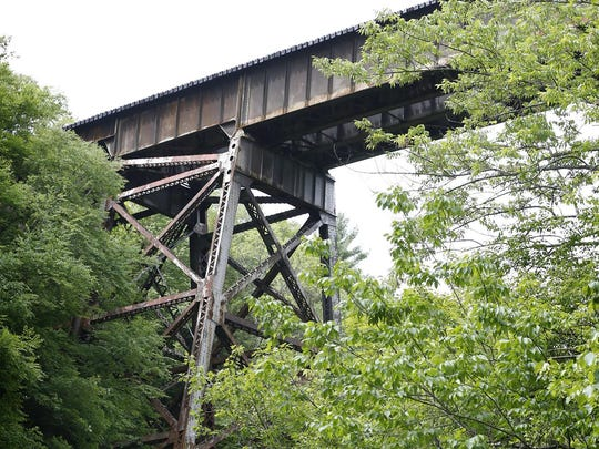 The railway suspended an approximate 172 feet above