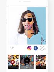 A screenshot of the app Prisma.