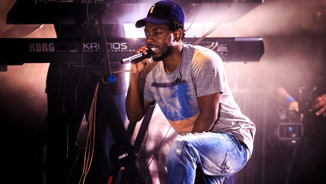 Kendrick Lamar performs during the Bacardi Triangle event on Nov. 1, 2014 in Fajardo, Puerto Rico.