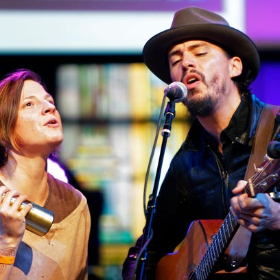 Cory Chisel, here with Nicole Rae, will perform Saturday at Riverview Gardens in Appleton.