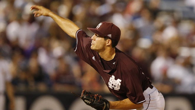Mississippi State's Dakota Hudson was named the NCBWA's National Pitcher of the Month after back-to-back complete game shutouts in May.