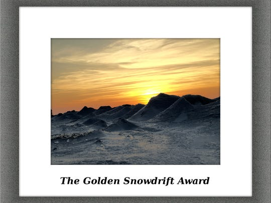 The award, devised by the Democrat and Chronicle, goes to the Great Lakes community with the most snow each winter.