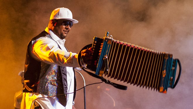 Keith Frank entertains the crowd at the 2015 Zydeco Extravaganza.