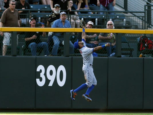 Mets Eric Young Jr. catch at Rockies May 3 2014