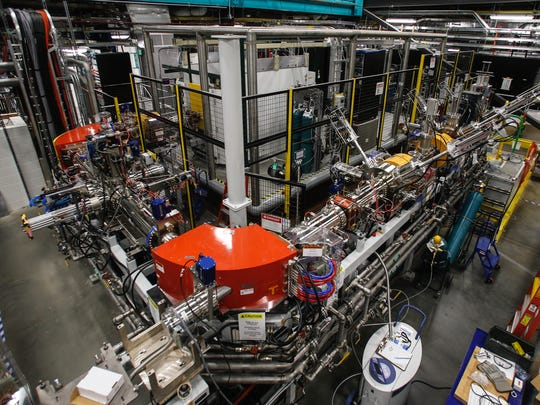 One of two beamlines being built at the Facility for