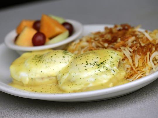 Eggs benedict  at the WeatherVane.