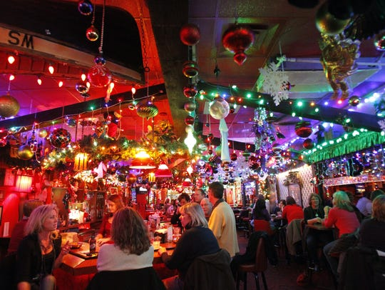 Cleo's in downtown Appleton is decorated for Christmas