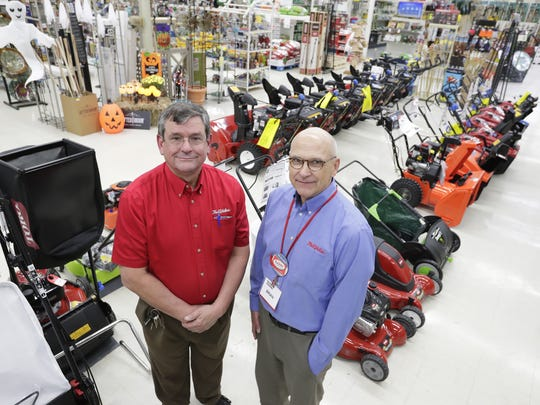 Jim and Brian Webb, brothers and owners of Krueger's True Value in Neenah, will celebrate the store's 150th year in business in November.
