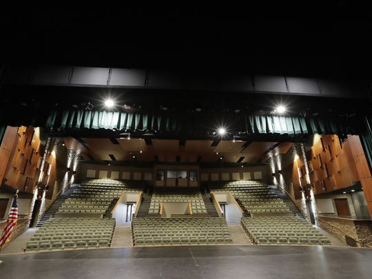 The auditorium at the new Performing Arts Center at Ashwaubenon High School. The auditorium seats 700 people and has a 50-foot-by-36-foot stage.